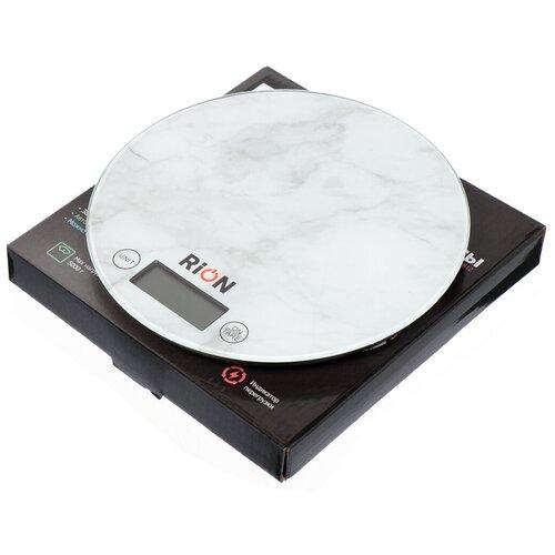 Весы кухонные электронные Rion Мрамор PT-812 до 5 кг недорого