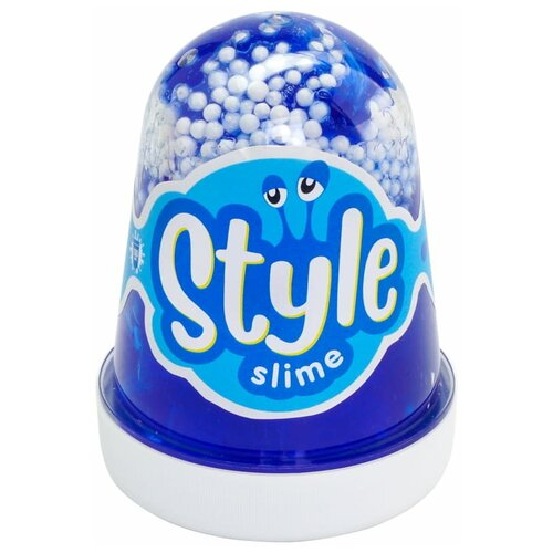 Лизун LORI Style Slime с шариками с ароматом тутти-фрутти синий