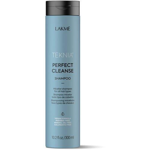 Фото - Lakme шампунь Teknia Perfect Cleanse мицеллярный для глубокого очищения волос, 300 мл lakme дорожный набор восстанавливающий шампунь 100 мл кондиционер 100 мл маска 50 мл lakme teknia