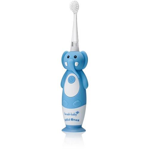 Brush-Baby Sonic WildOnes звуковая зубная щетка Слон 0-10 лет brush baby kidzsonic звуковая зубная щетка ракета от 3 лет