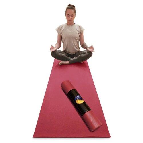 Коврик для йоги RamaYoga Yin-Yang PRO, бордо, 173 х 80 х 0,45 см