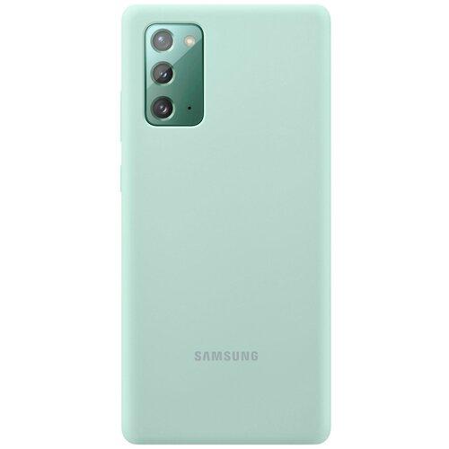 Фото - Чеxол (клип-кейс) Samsung Galaxy Note 20 Silicone Cover мятный (EF-PN980TMEGRU) чехол клип кейс samsung galaxy note 20 ultra silicone cover белый ef pn985twegru