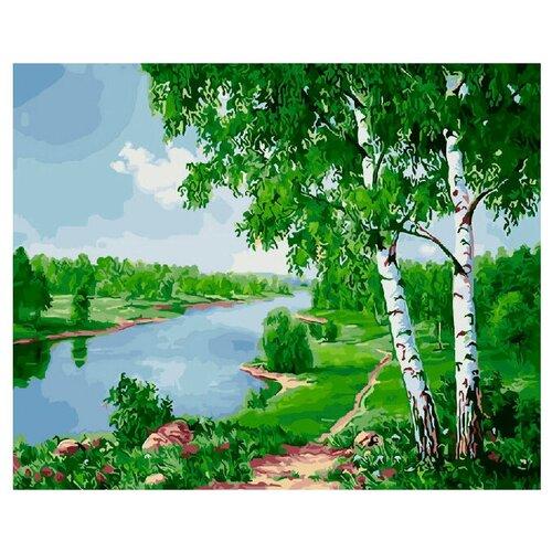 Купить ВанГогВоМне Картина по номерам Березки у реки , 40х50 см (ZX 20803), Картины по номерам и контурам