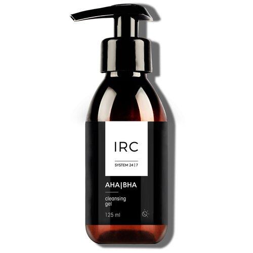 IRC очищающий гель для умывания с AHA/BHA кислотами, 125 мл meishoku разогревающий и очищающий крем гель с aha и bha кислотами 200 г