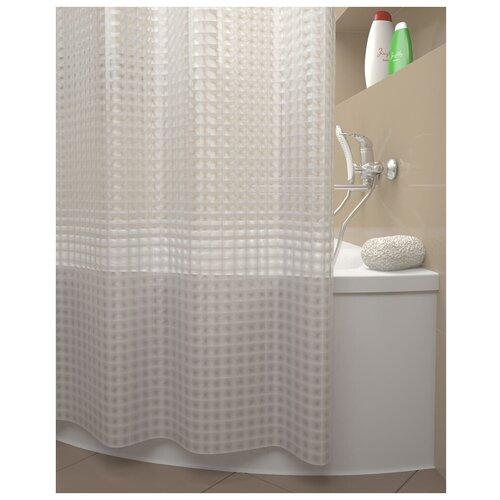 Фото - Штора для ванной IDDIS 500E18Si11 180x200 прозрачный штора для ванной iddis 680p18ri11 180x200 зеленый черный