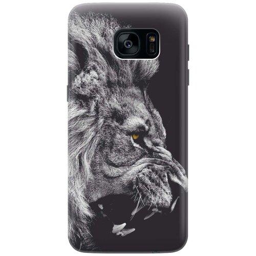 Cиликоновый чехол на Samsung Galaxy S7 Edge / Самсунг С7 Эдж с принтом