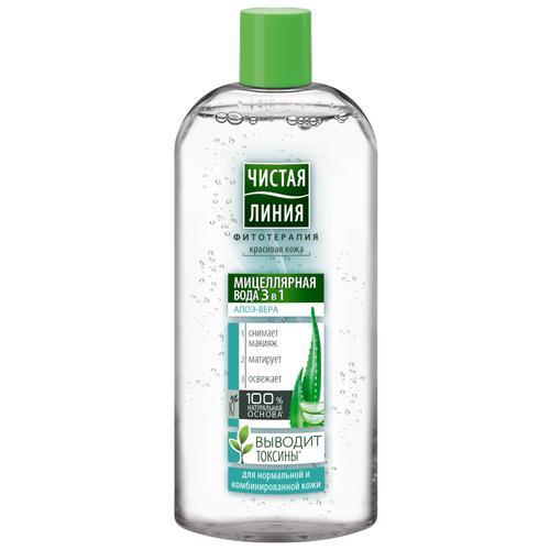 Купить Чистая линия мицеллярная вода 3в1 для нормальной и комбинированной кожи, 400 мл