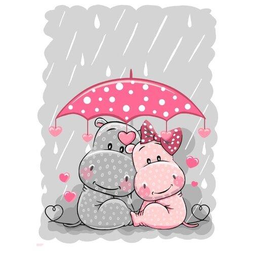 """ФРЕЯ Картина по номерам """"Счастье под зонтом"""" 30х40 см (PKZ-2 №15)"""