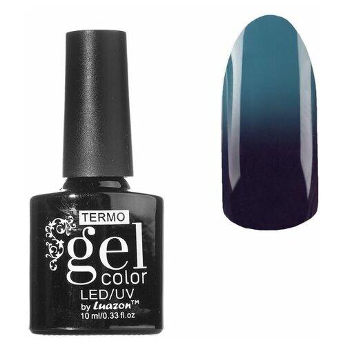 Фото - Гель-лак для ногтей Luazon Gel color Termo, 10 мл, А2-051 темная лаванда гель лак для ногтей luazon gel color termo 10 мл а2 076 пурпурный перламутровый