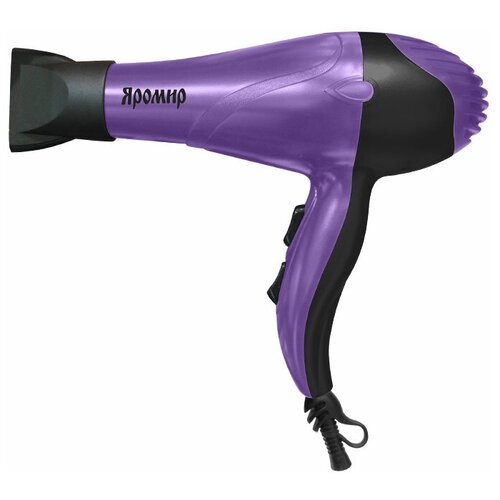 Фен Яромир ЯР-252, фиолетовый/черный фен яромир яр 251 черный серебристый