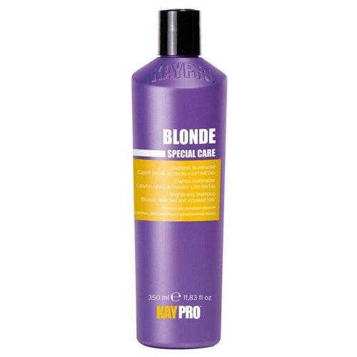 coiffance professionnel шампунь blonde brightening для для светлых обесцвеченных и седых воло 1 л KayPro шампунь Blonde для придания яркости для светлых, обесцвеченных и мелированных волос, 350 мл