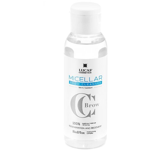 CC Brow Мицеллярная вода для бровей Micellar Brow Cleanser, 100 мл