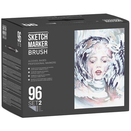 Фото - SketchMarker Набор маркеров Brush Set 2, 96 шт. sketchmarker набор маркеров brush oriental style set 48 шт