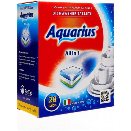 Фото - AQUARIUS All in 1 таблетки для посудомоечной машины, 28 шт. aquarius all in 1 таблетки для посудомоечной машины 150 шт