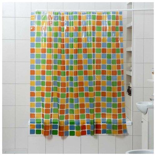 Штора для ванной Доляна Мозайка 180x180 мозайка штора для ванной доляна малевич 180x180 малевич