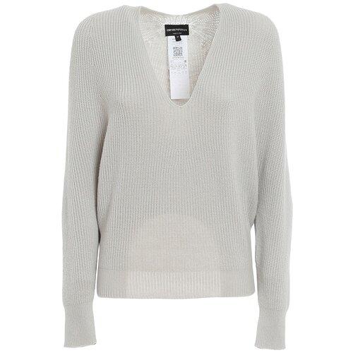 Пуловер EMPORIO ARMANI, размер S (40 IT), 0601 светло-серый