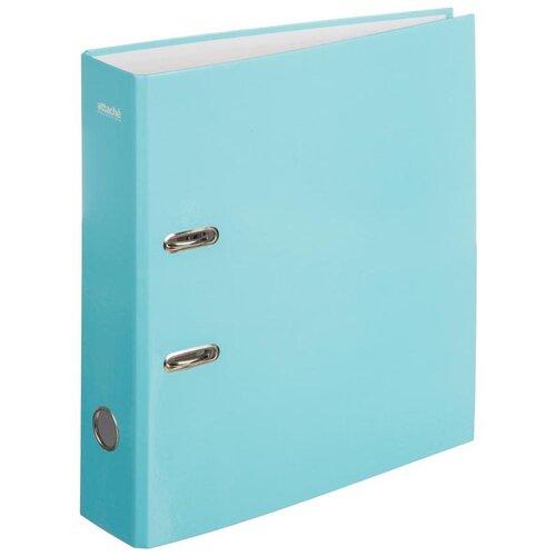 Купить Attache SELECTION Папка-регистратор Flamingo А4, ламинированный картон, 75 мм голубой, Файлы и папки