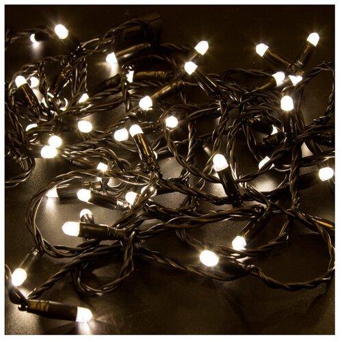 Гирлянда NEON-NIGHT Нить, 305-146, 1000 см, 100 ламп, теплый белый/черный провод гирлянда feron нить cl34 1000 см 100 ламп теплый белый черный провод