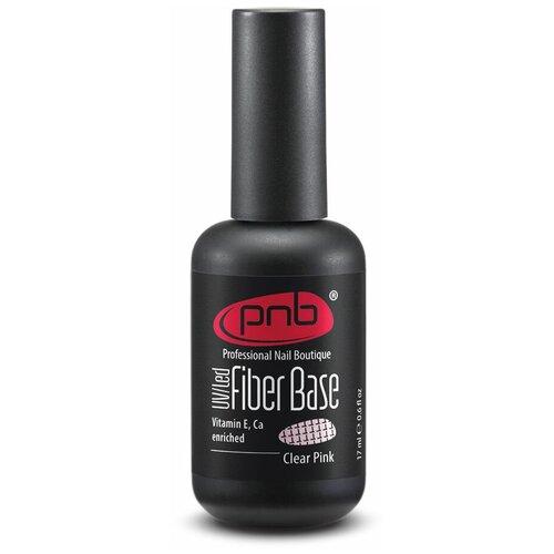 Купить PNB базовое покрытие Fiber Base 17 мл CLEAR PINK