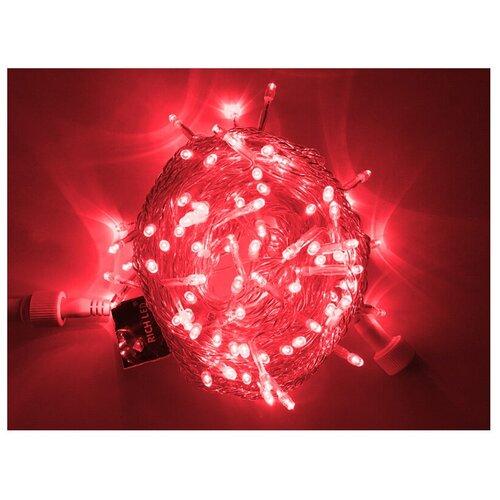 Гирлянда Rich LED Нить RL-S10CF-24V-T, 1000 см, 100 ламп, красные диоды/прозрачный провод