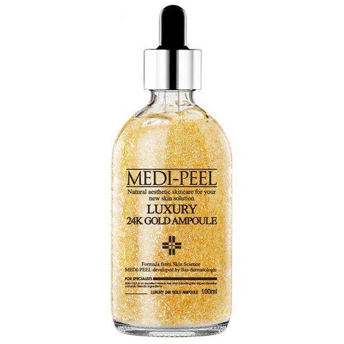MEDI-PEEL Luxury 24K Gold Ampoule Сыворотка для лица с лифтинг эффектом, 100 мл medi peel 5gf bor tox peptide ampoule сыворотка для лица с эффектом ботокса 30 мл