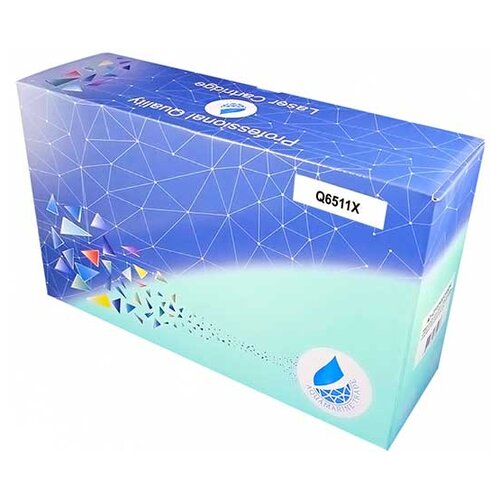 Фото - Картридж Aquamarine Q6511Х (совместимый с HP Q6511Х / HP 11X), цвет - черный, на 12000 стр. печати hp w2031a 415a 2100 стр для m454dn m479fdn m479fnw m479fdw