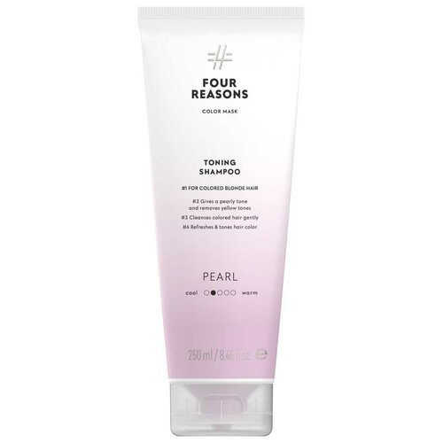 Купить Four Reasons Тонирующая маска для поддержания цвета окрашенных волос Toning Treatment Pearl, 200 мл