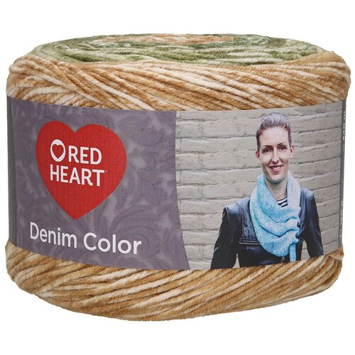 Купить Пряжа для вязания Red Heart 'Denim color' 150гр 340м (100% акрил) (00001 лес) 3 мотка