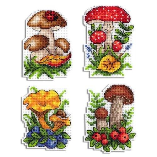 Жар-птица Набор для вышивания Грибное лукошко 9 х 6 см (Р-486)