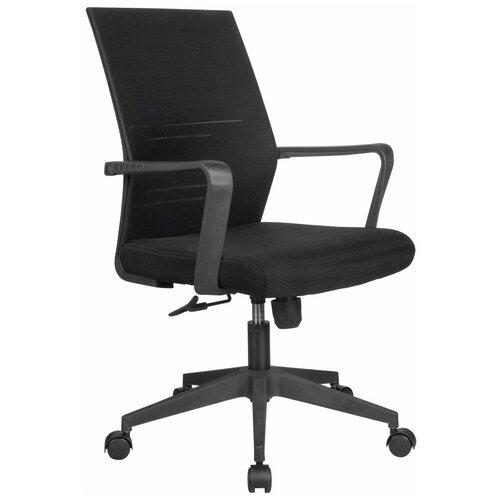 Компьютерное кресло Рива B818 офисное, обивка: текстиль, цвет: черный компьютерное кресло рива 8074 офисное обивка текстиль искусственная кожа цвет оранжевый