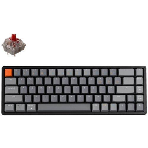 Клавиатура беспроводная Keychron K6 White Led HotSwap (Gateron Red)
