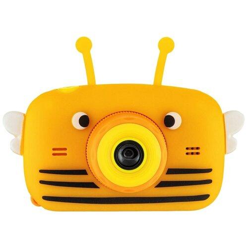 Фото - Фотоаппарат GSMIN Fun Camera View с играми оранжевый фотоаппарат children s fun camera микки с wi fi красный