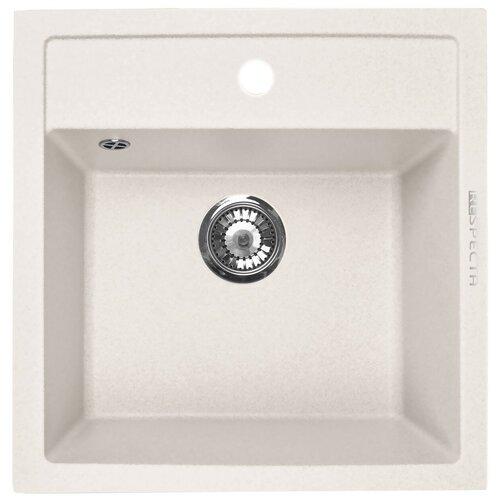 Врезная кухонная мойка 51.5 см Respecta Cubo RC-51 белый камень