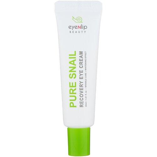 Eyenlip Крем для глаз восстанавливающий улиточный Pure Snail Recovery Eye Cream, 30 мл питательный улиточный крем snail repair perfect cream