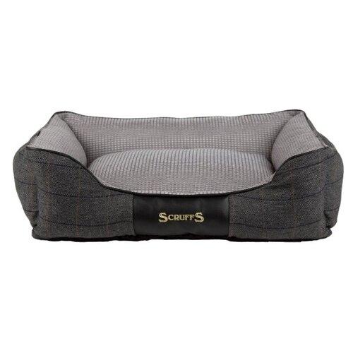 Лежак для собак Scruffs Windsor Box Dog Bed M 60х50х18 см графитово-серый