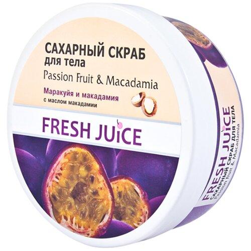 Fresh Juice Сахарный скраб для тела Passion Fruit and Macadamia, 225 мл