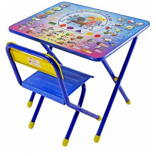 Комплект ДЭМИ стол + стул №1 Электроник 60x45 см синий