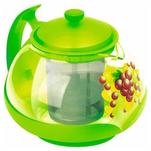 mallony заварочный чайник decotto as 750 0 75 л темно синий Mallony Заварочный чайник Decotto-G-750 750 мл, зеленый