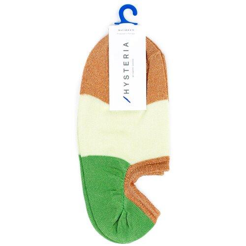 Невидимые носки женские премиального бренда Hysteria Isa Invisible Sneaker Sock - Brown/Green 39-41