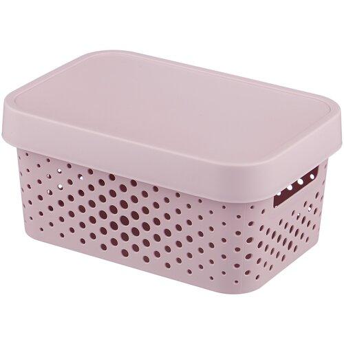 CURVER Коробка с крышкой Infinity 12,5x17,5x26см розовый