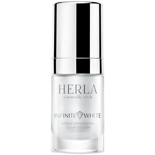 HERLA Интенсивная депигментационная сыворотка для лица Infinite White intense depigmenting serum solution, 15 мл