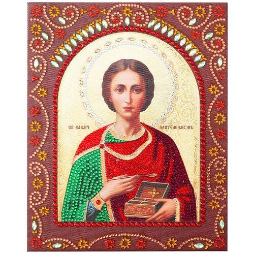 Купить Алмазная живопись Color Kit иконы фигурными стразам Великомученик Целитель Пантелеймон 20х25 IF013, Алмазная мозаика