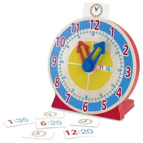 Купить Melissa&Doug Часы с карточками-заданиями, Melissa & Doug, Развитие мелкой моторики