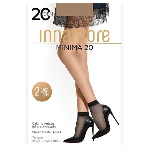 Капроновые носки Innamore Minima 20 den, 2 пары, размер UNI, daino