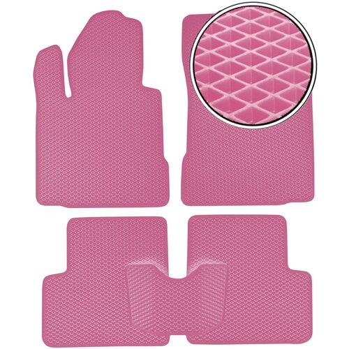 Автомобильные коврики EVA на Nissan Micra (K12) 2003 - 2010 - Розовый