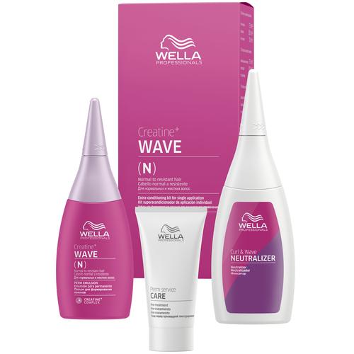 Wella Professionals Набор Creatine+ Wave для нормальных волос, от тонких до трудноподдающихся