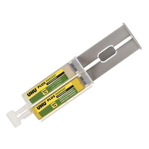 Эпоксидный двухкомпонентный сверхпрочный клей UHU-plus Endfest 300 (шприцы - 25 грамм)