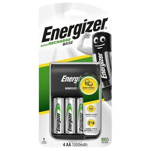 Зарядное устройство Energizer Base: 2/4 слота AA/AAA + 4 акк. AA 1300mAh