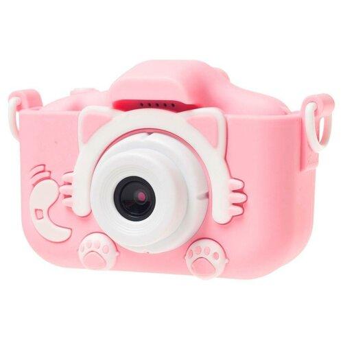 Фото - Фотоаппарат GSMIN Fun Camera Kitty со встроенной памятью и играми розовый тапочки с памятью размер 40 41 комфорт