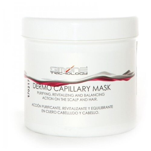 Simone Trichology Маска Dermo Capillary Mask Treatment для Волос Дермокапилляр, 500 мл simone trichology лосьон polypant естественный контроль кожного сала 150 мл